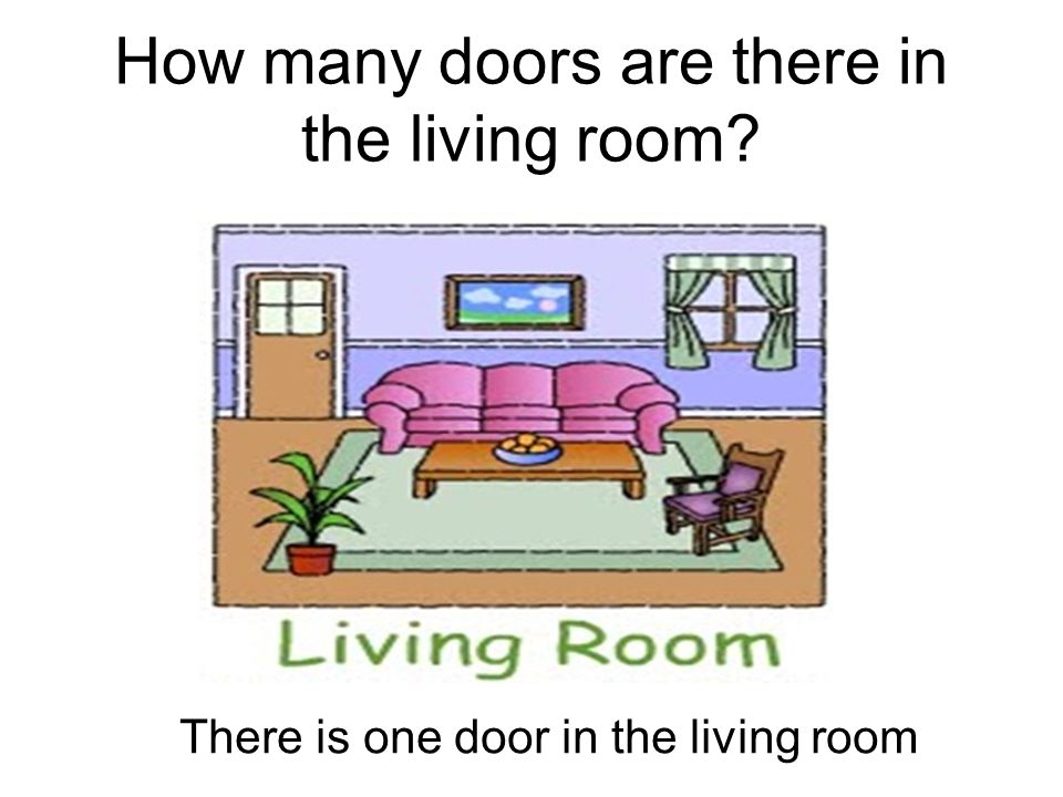 How many doors are there in the living room