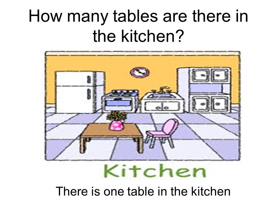 How many tables are there in the kitchen