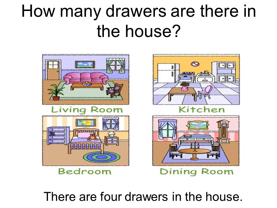 How many drawers are there in the house