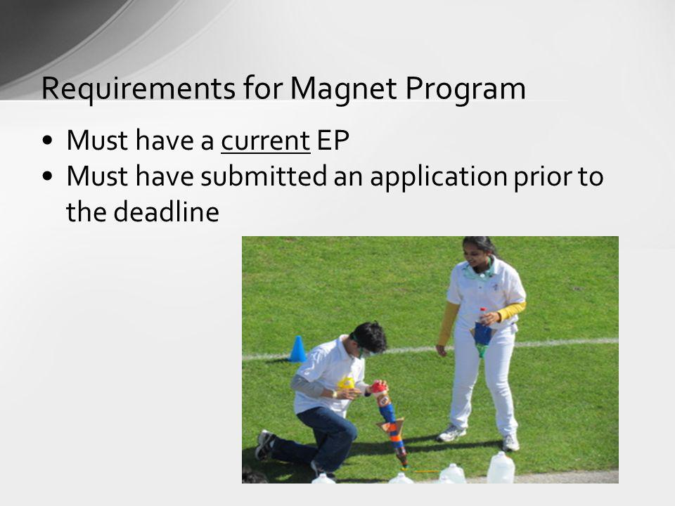 Requirements for Magnet Program