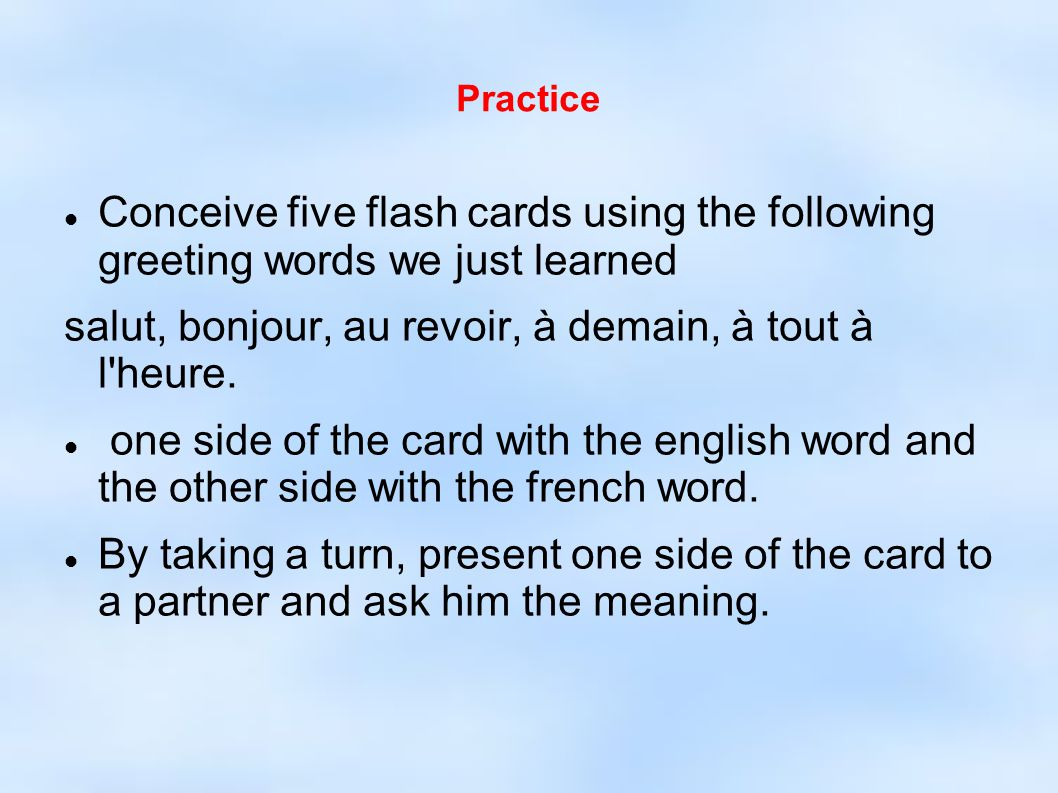 French greetings and salutations ppt video online download 4 salut m4hsunfo