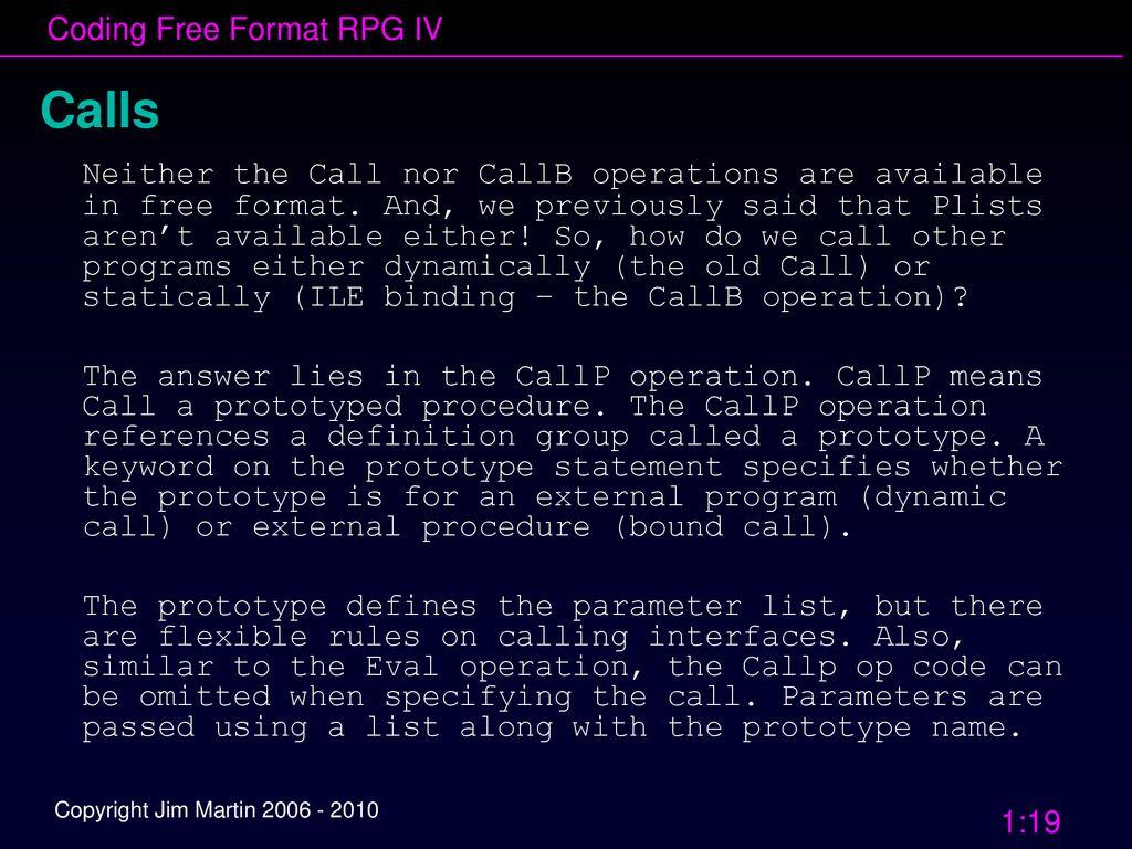 April 2010 SEMIUG & MMUG Coding Free Format RPG IV: - ppt