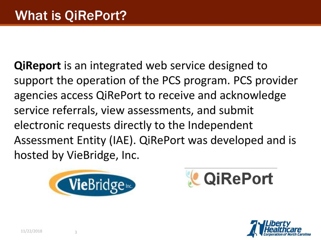 QiRePort \u2013 Provider Portal Training - ppt download