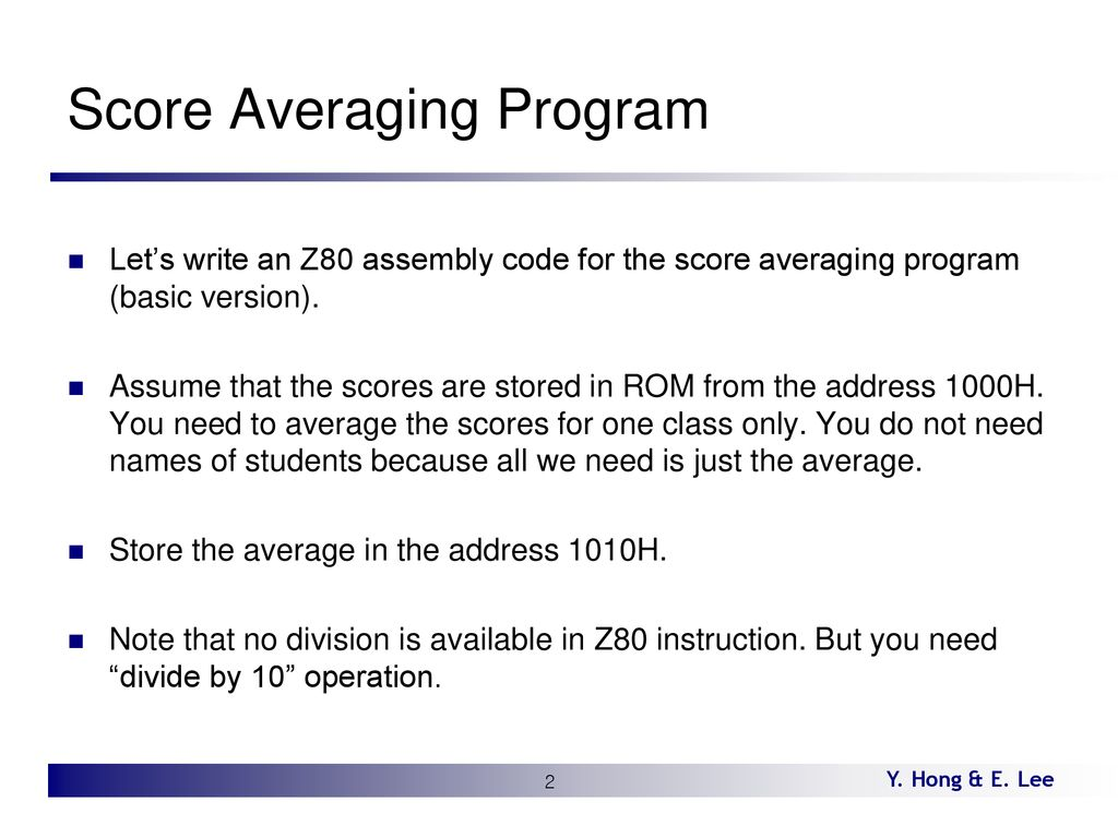 Lecture 14 Z80 Application Program - ppt download