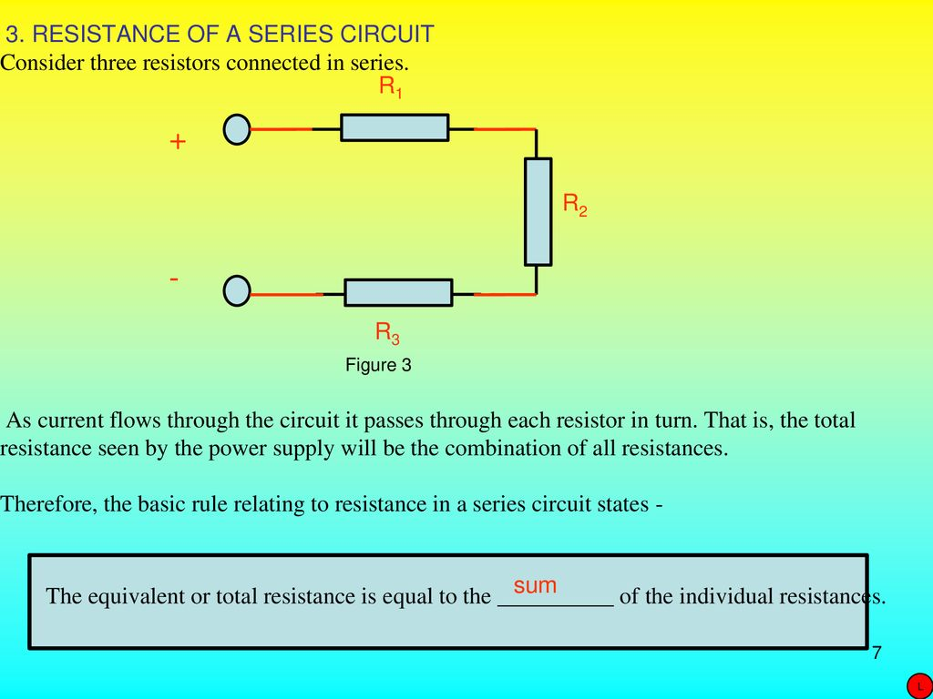 8 Series Circuits Ueeneee104a Dc Purpose Ppt Download The Combined Resistance Of Resistors In Is Sum All A Circuit