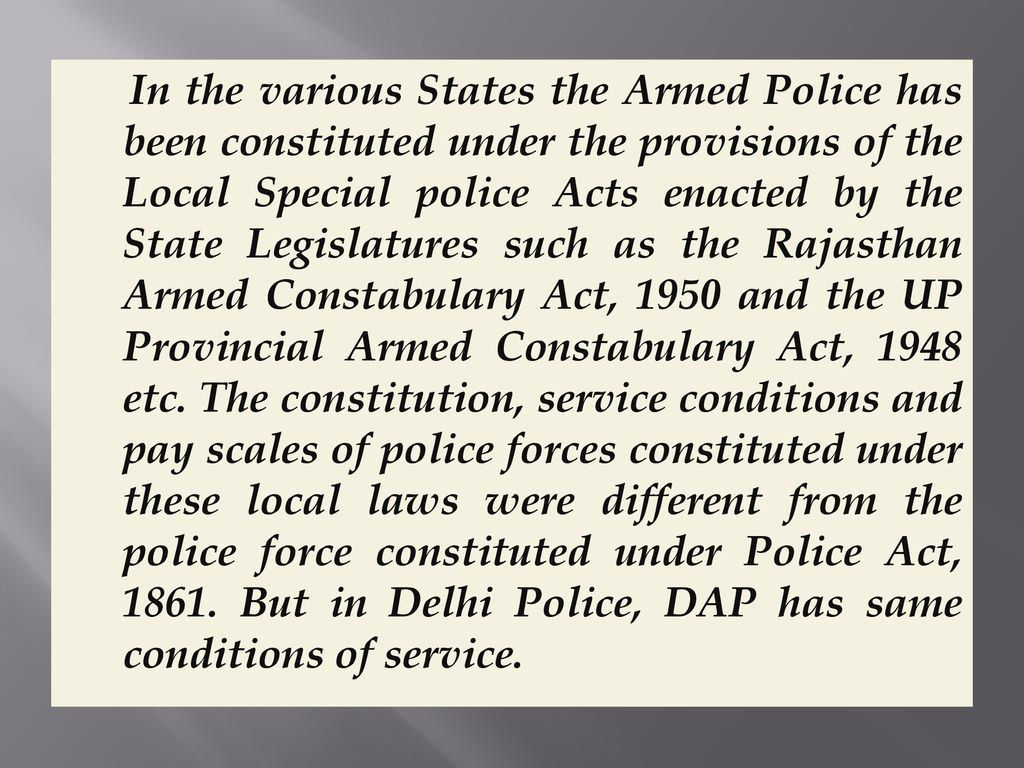 Delhi Police Act, ppt download