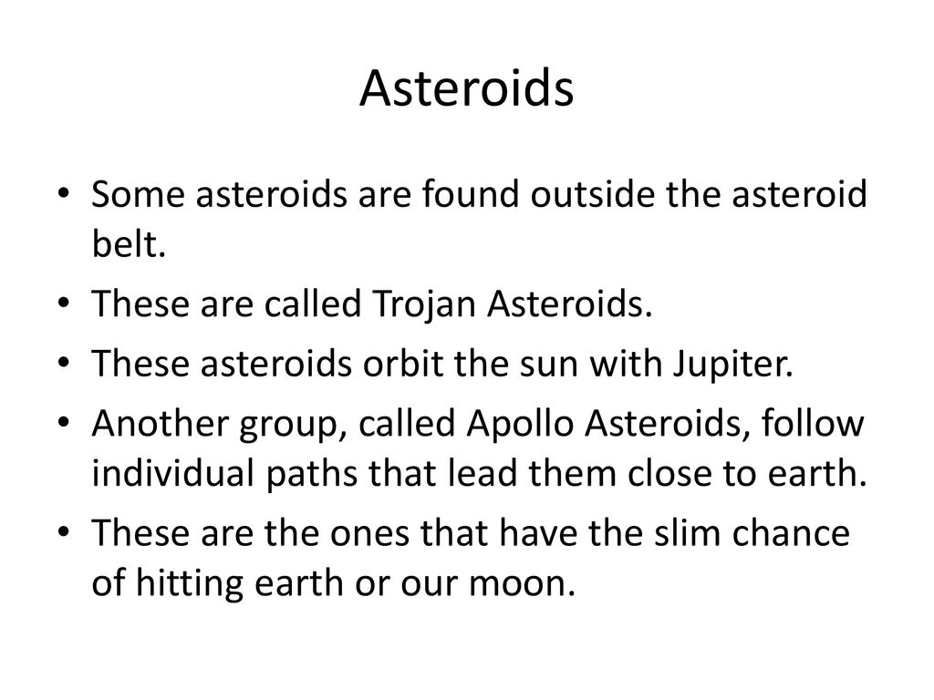 Asteroids, Comets, and Meteoroids - ppt download