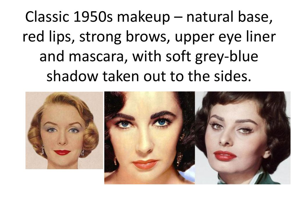 1950s Hairstyles Makeup And Teen Life Ppt Download
