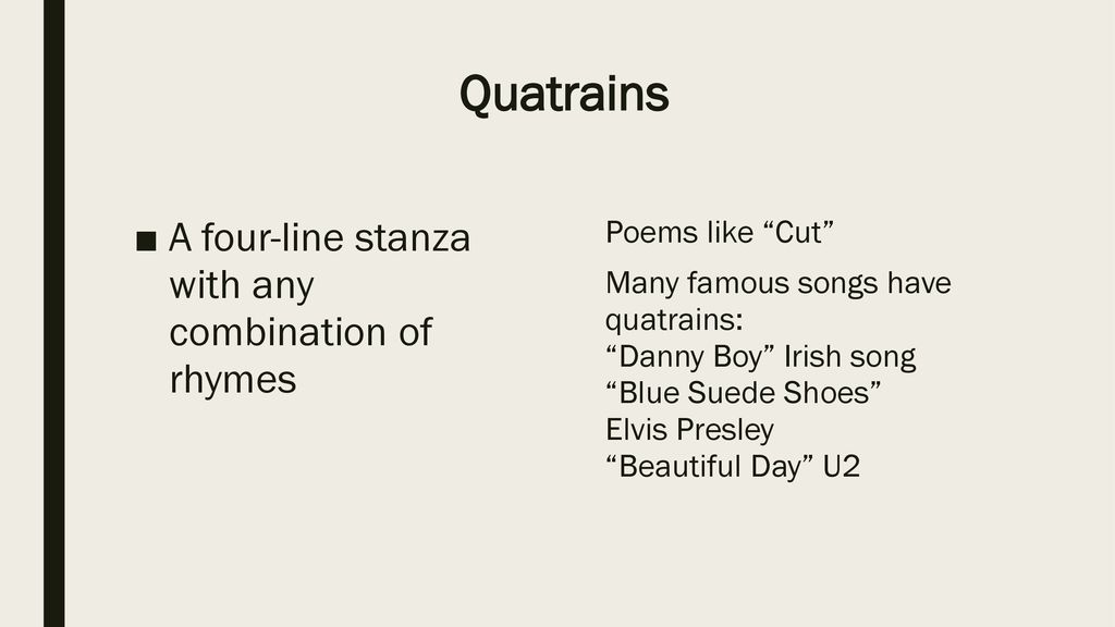 Poetry Terms ppt download