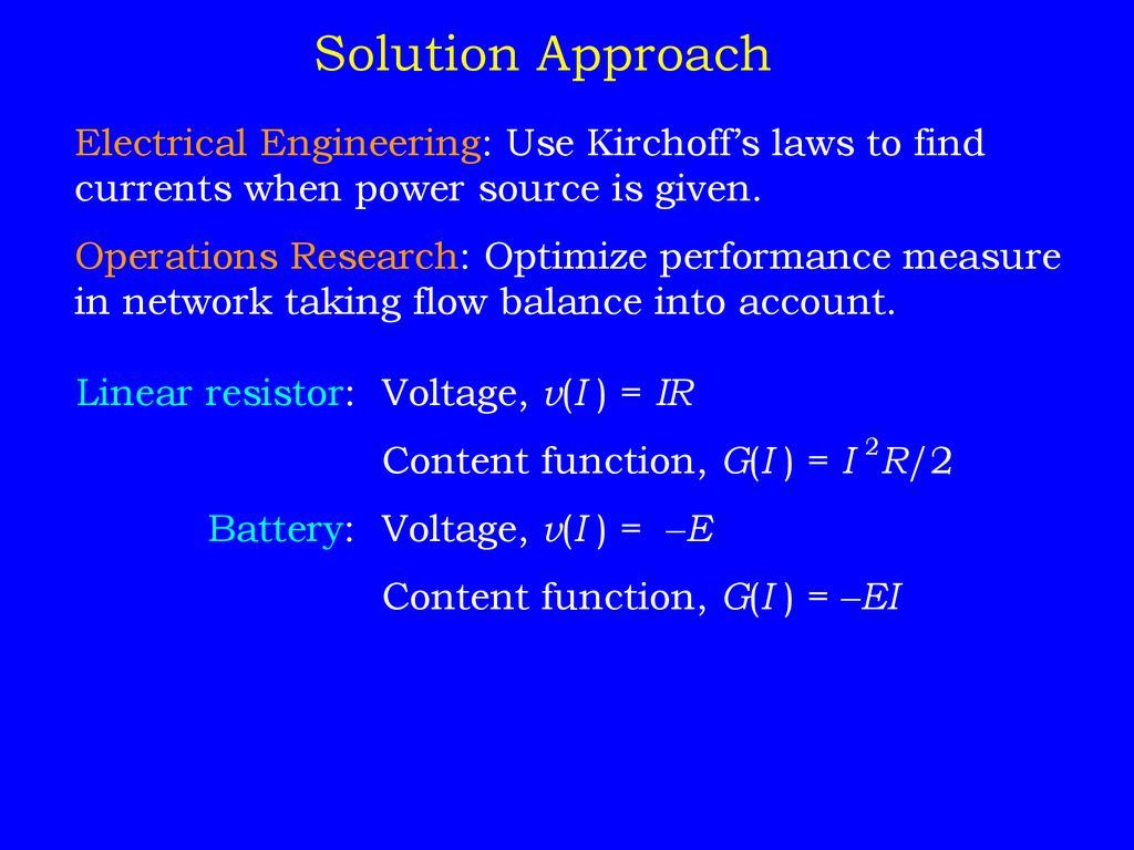 Lecture 9 Nonlinear Programming Models Ppt Download Solution Electrical Engineering 24 Approach