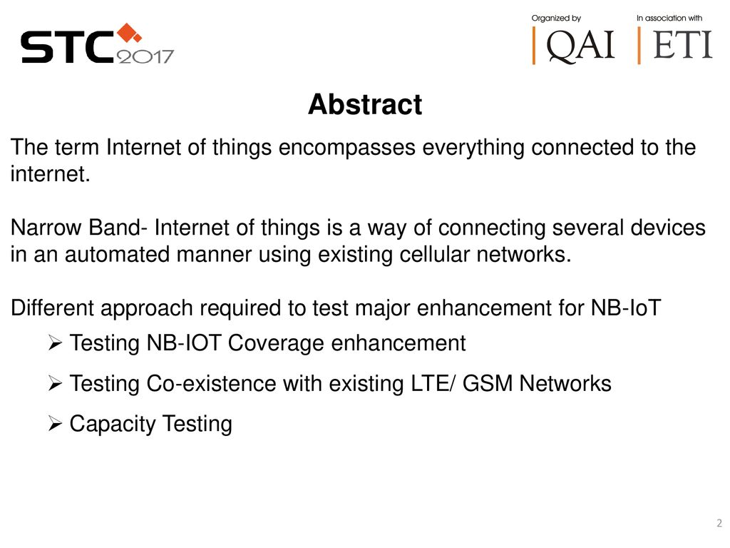 TESTNG TECHNIQUES FOR NB-IOT PHYSICAL LAYER - ppt download