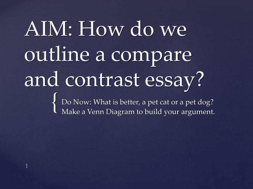 Write My Essay Paper Aim How Do We Outline A Compare And Contrast Essay Persuasive Essay Sample Paper also Thesis Essay Example Aim How Do We Outline A Compare And Contrast Essay  Ppt Download Apa Format Essay Paper