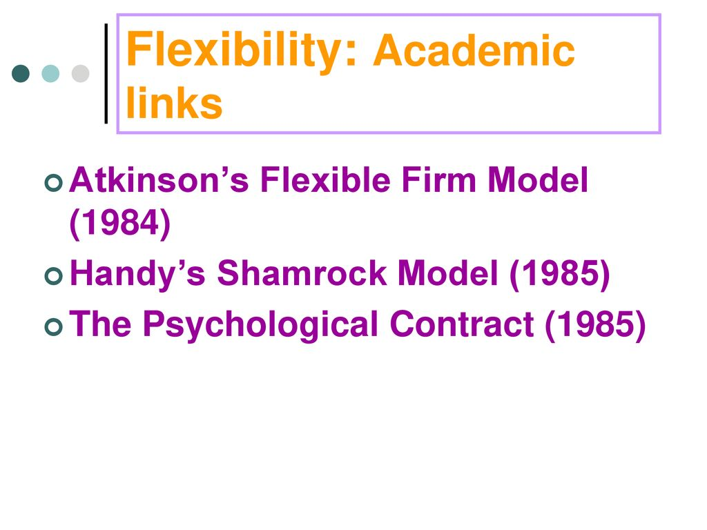 atkinson flexibility model