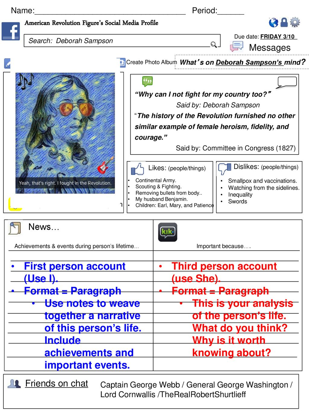 First person account (Use I)  Format = Paragraph - ppt download