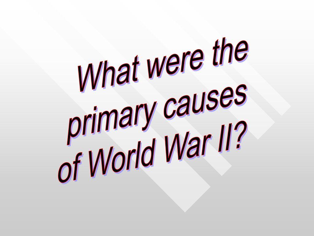 primary causes of ww1