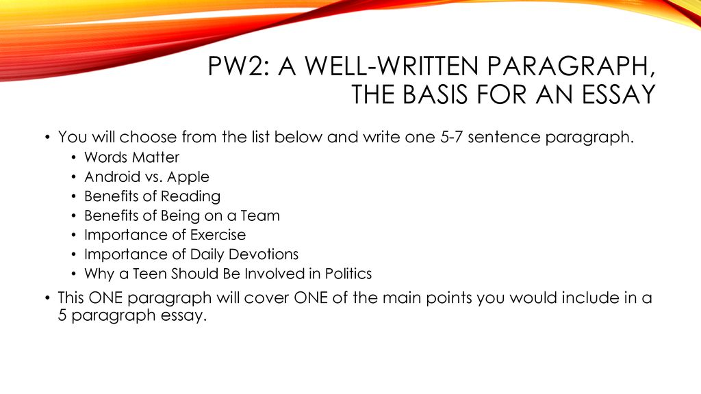 importance of reading paragraph