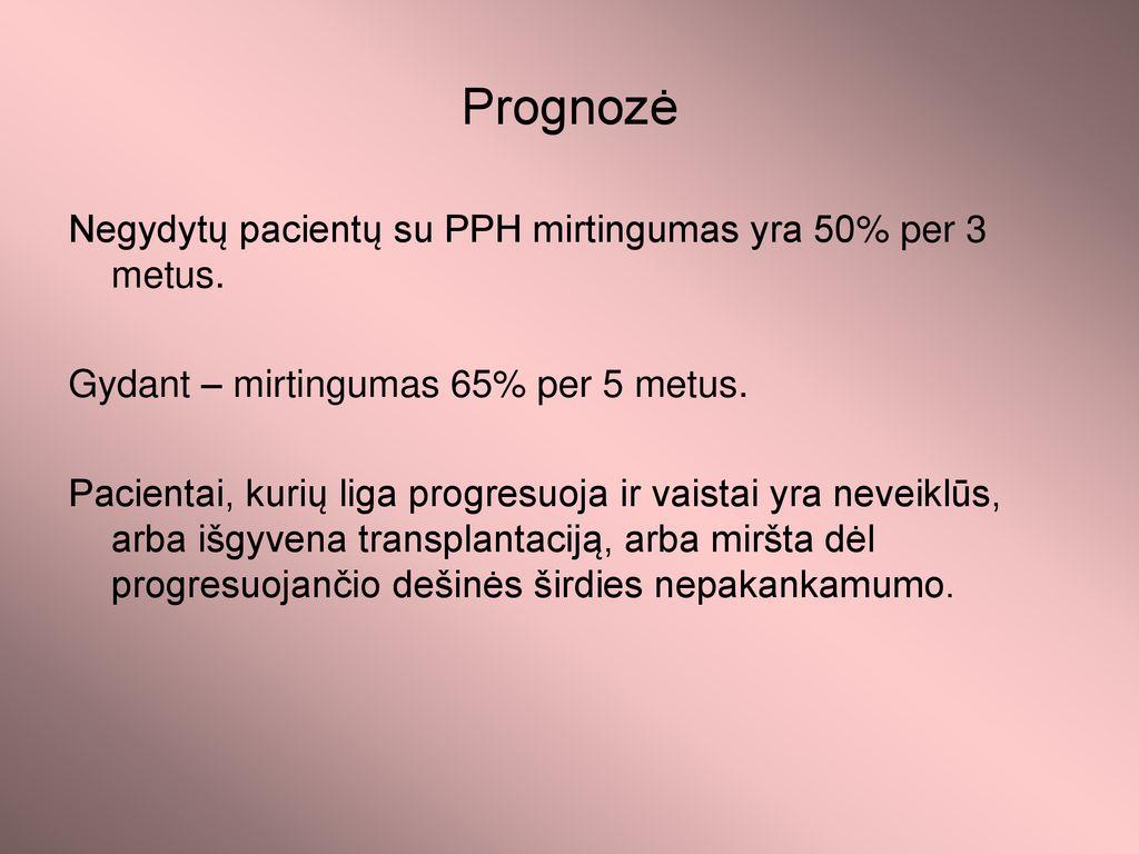 hipertenzijos mirtingumas per metus