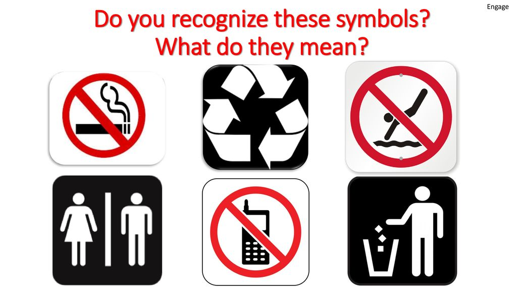 Do you recognize these symbols? What do they mean? - ppt