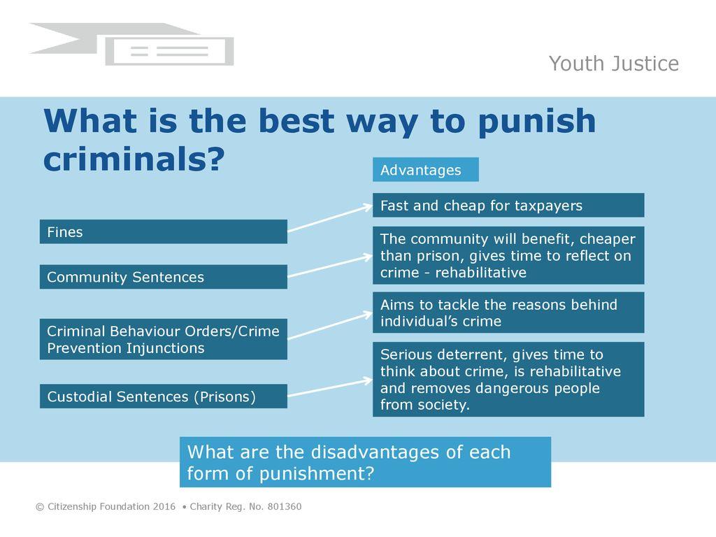 advantages and disadvantages of community sentences