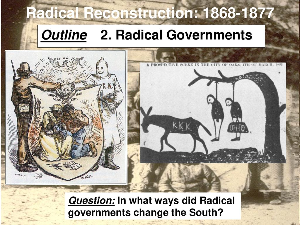Radical Reconstruction Ppt Download