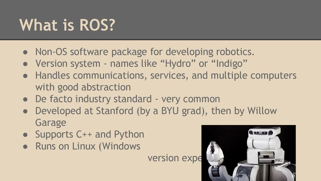 The Robot Operating System - ppt download