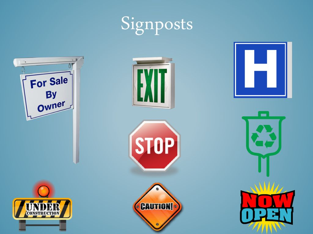 Signposts We've been talking about signpost  Remember
