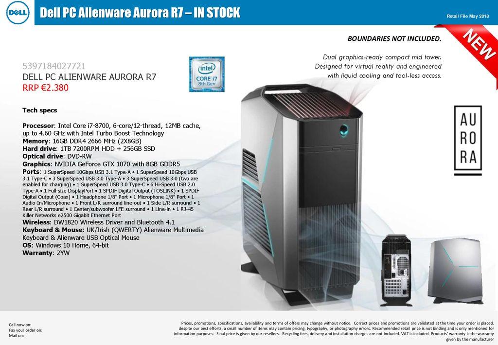 Dell PC Alienware Aurora R7 – IN STOCK - ppt download