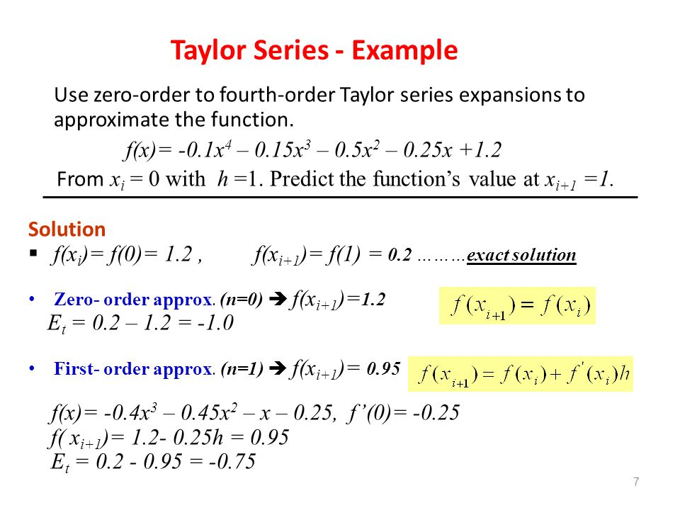 Truncation Errors And Taylor Series Ppt Video Online Download