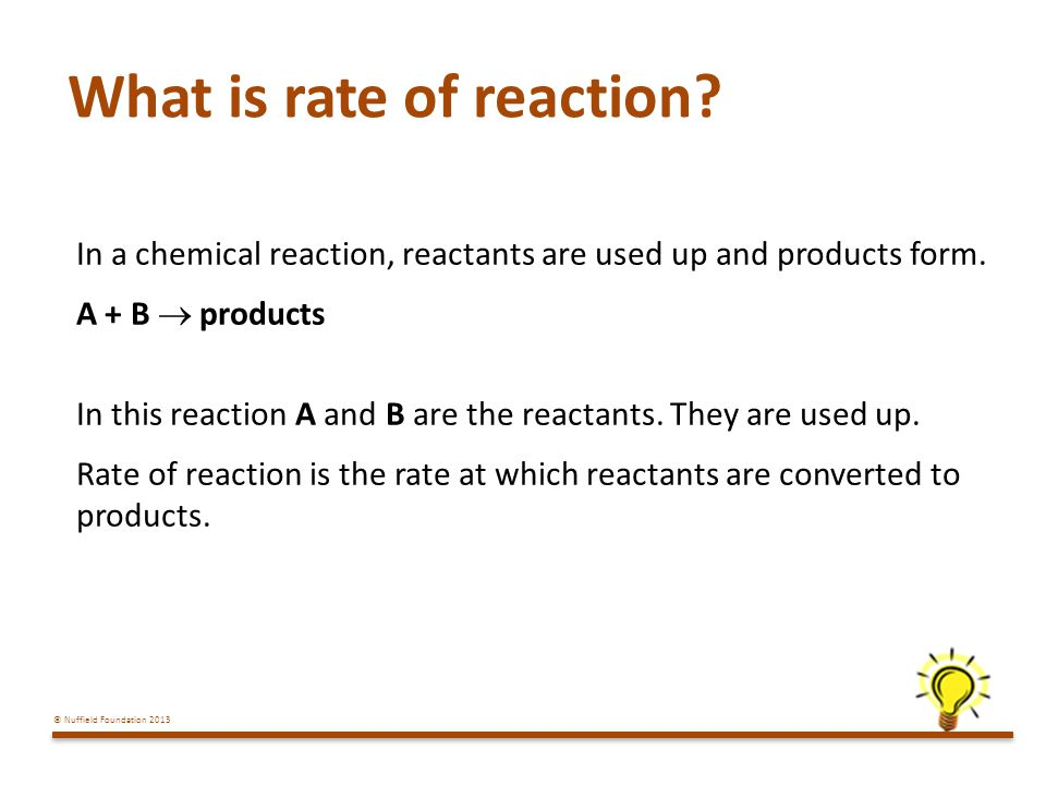 What is rate of reaction