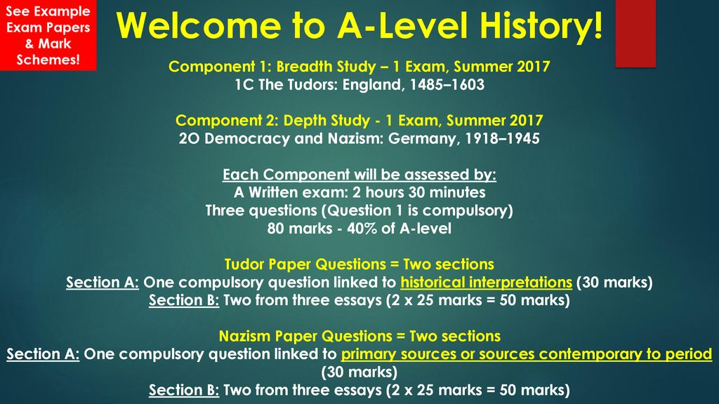 Welcome to A-Level History! - ppt download