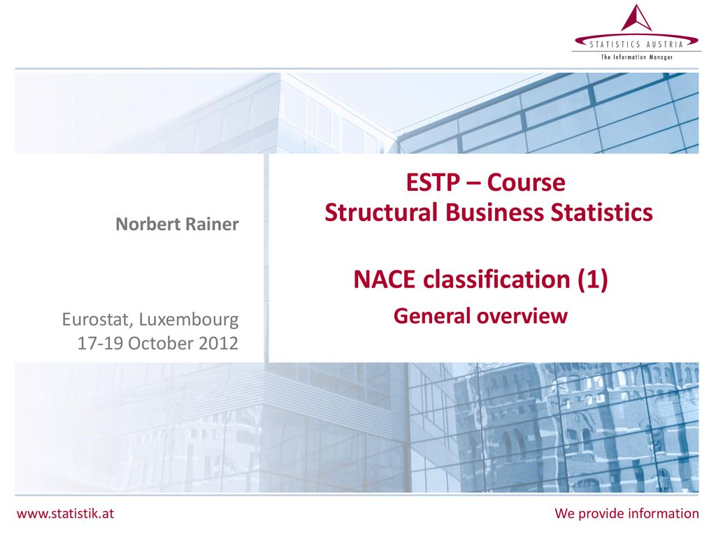 ESTP – Course Structural Business Statistics - ppt download