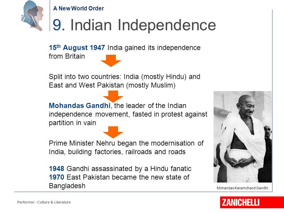 A New World Order 9. Indian Independence.
