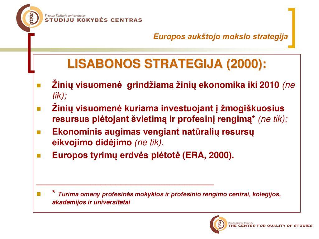 universiteto tyrimų strategijos ppt