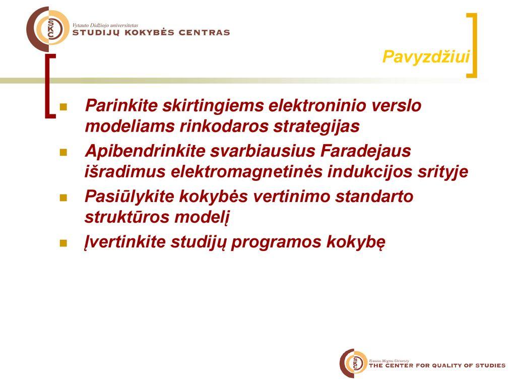 rinkodaros strategija universiteto ppt
