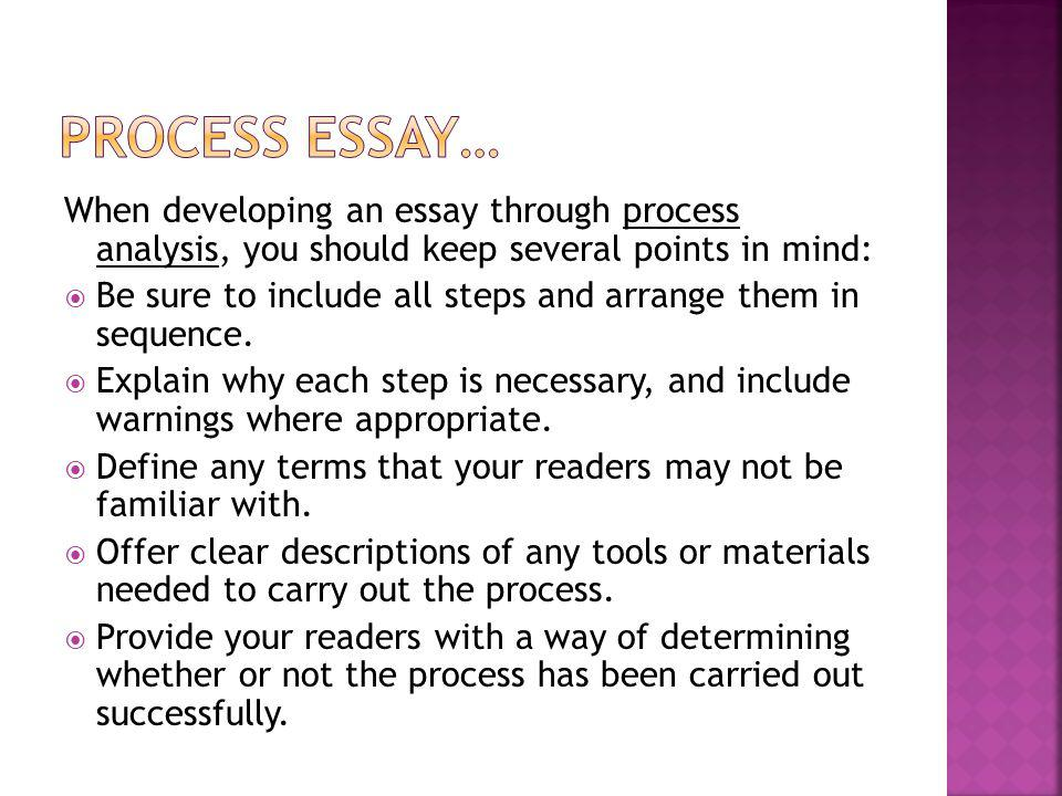 Processhow Tochronological Order Essay  Ppt Download  Process Essay