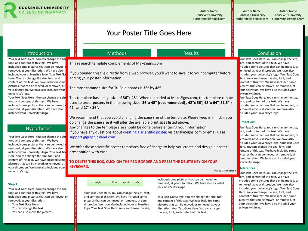 Roosevelt University Email >> Your Poster Title Goes Here Ppt Download