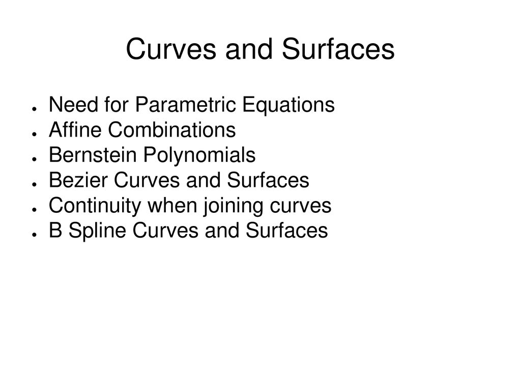 Curves and Surfaces  - ppt download