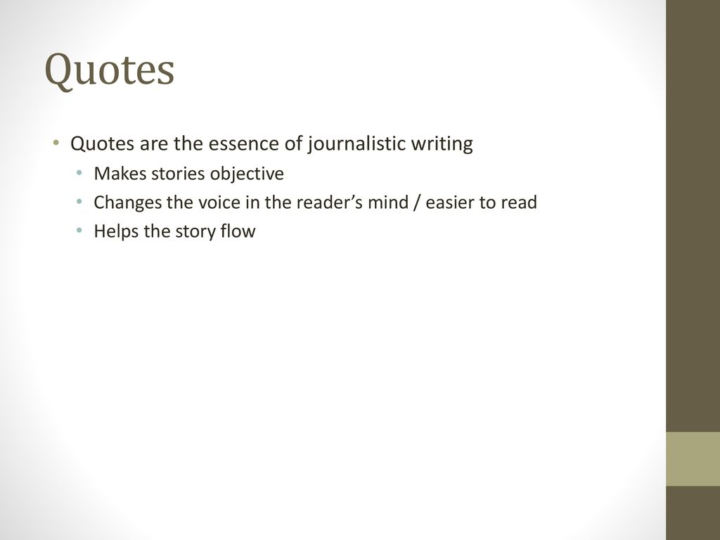 Principles Of Journalistic Writing Ppt Download
