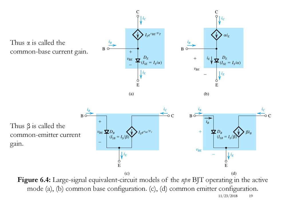Lecture 06 Bipolar Junction Transistors 1 Ppt Download Equivalent Circuit Of A Solid State Relay Electrical Recapitulation And Models 19 Thus