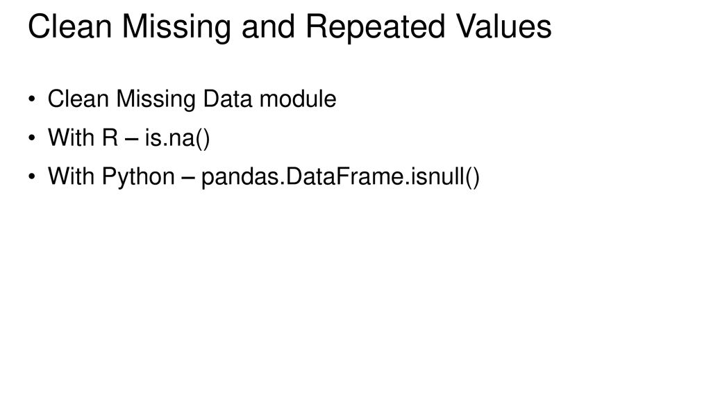 Data cleaning and transformation - ppt download