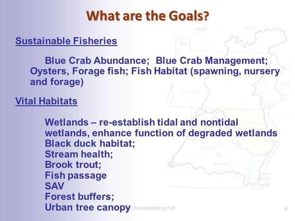 What are the Goals Sustainable Fisheries Vital Habitats