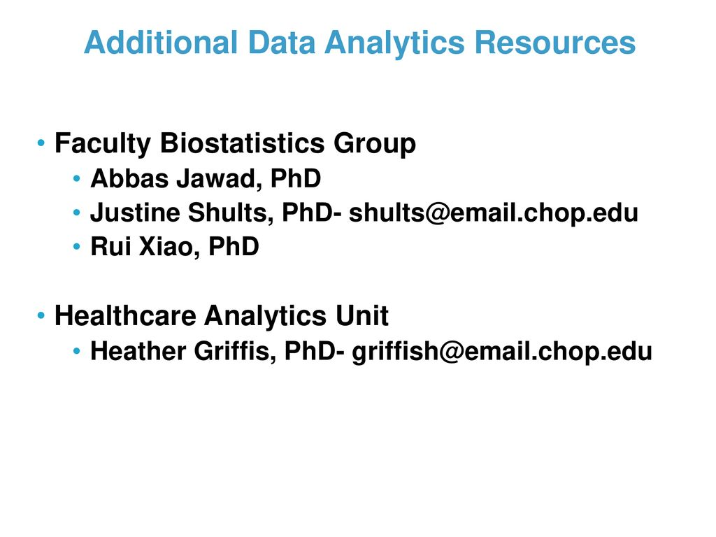 Overview of Clinical and Translational CHOP - ppt download
