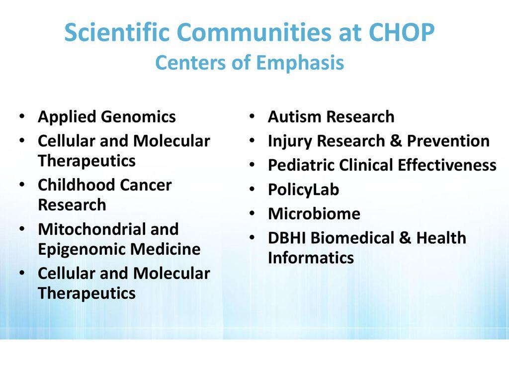 Chop Outpatient Lab