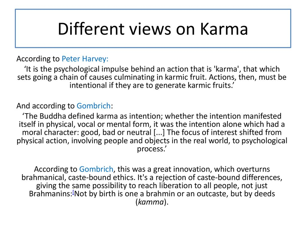 real definition of karma