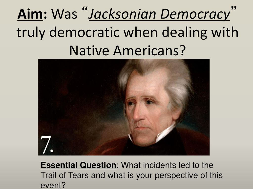 was jacksonian democracy really democratic