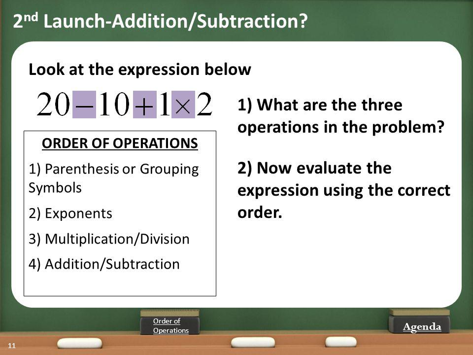 2nd Launch-Addition/Subtraction