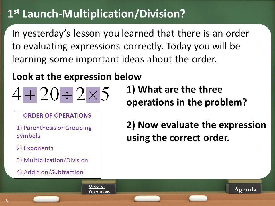1st Launch-Multiplication/Division
