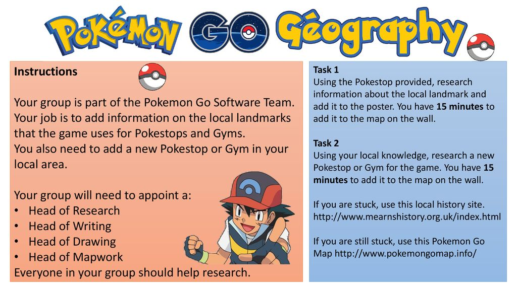 Your group is part of the Pokemon Go Software Team  - ppt