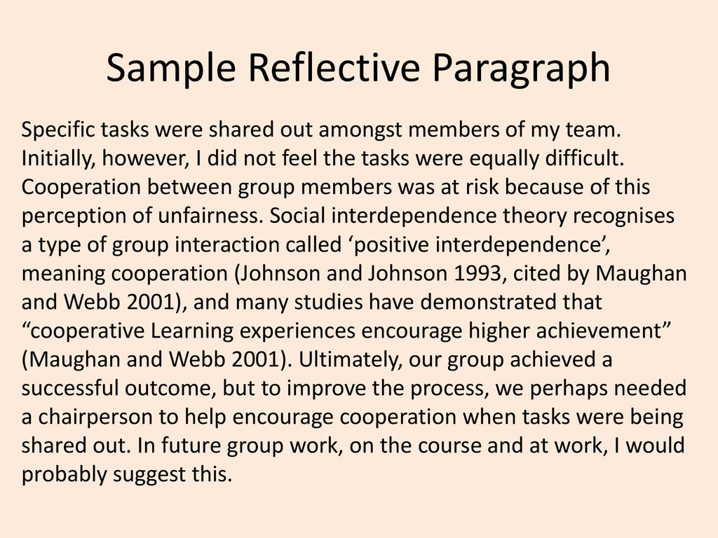 Report Writing and Reflective Writing - ppt download