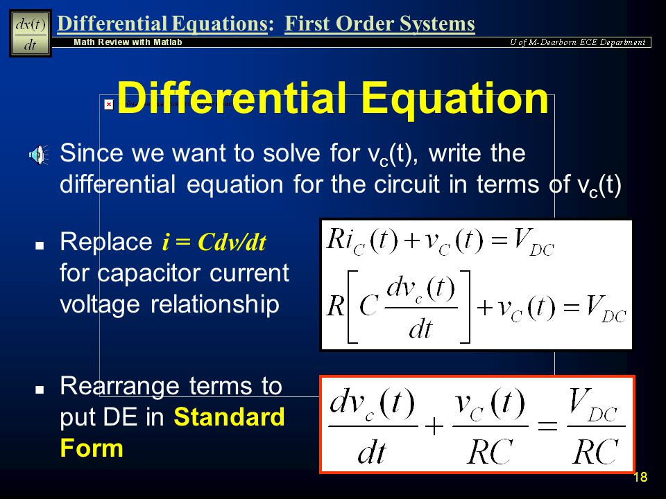 Differential Equations Ppt Video Online Download